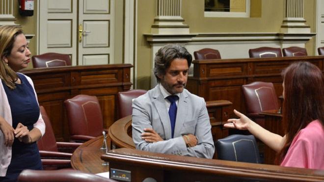 Resultado de imagen de diputada regional del PSOE y portavoz de su grupo en el debate sobre la Ley del Suelo en el Parlamento de Canarias, Nayra Alemán